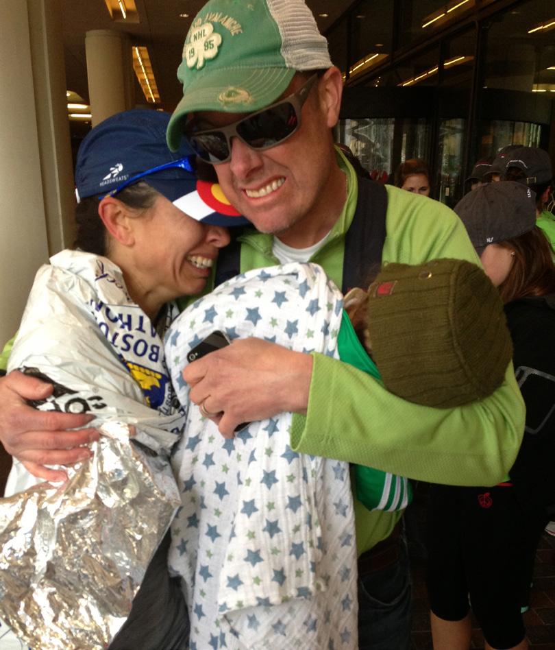 Boston Marathon post bombing reunification