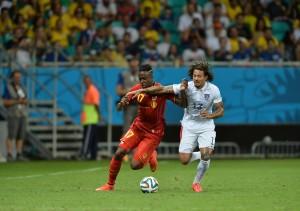 Jermain Jones pursues a sorry Belgian