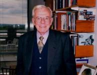 Jack Galvin, taken in his Fletcher  School office on October 18, 1999.
