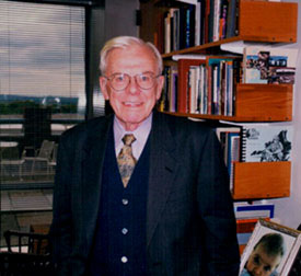 Jack Galvin, taken in his Fletcher  School office on October 18, 1999.