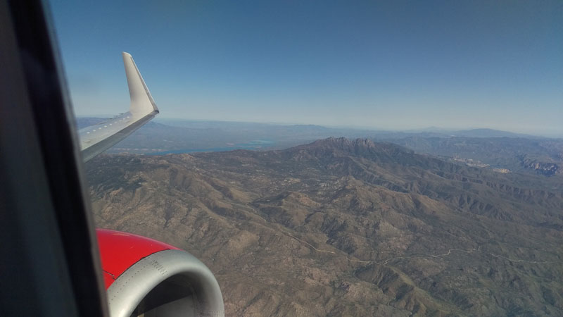 The Four Peaks looked a bit different on the way in.