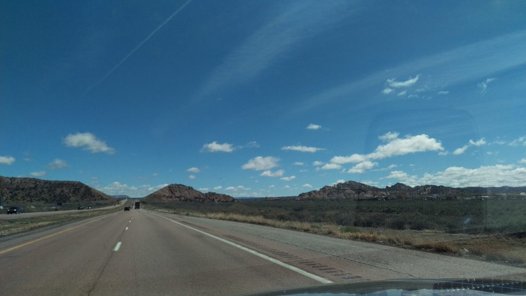 Just past Gallup, N.M. I had noted this formation...
