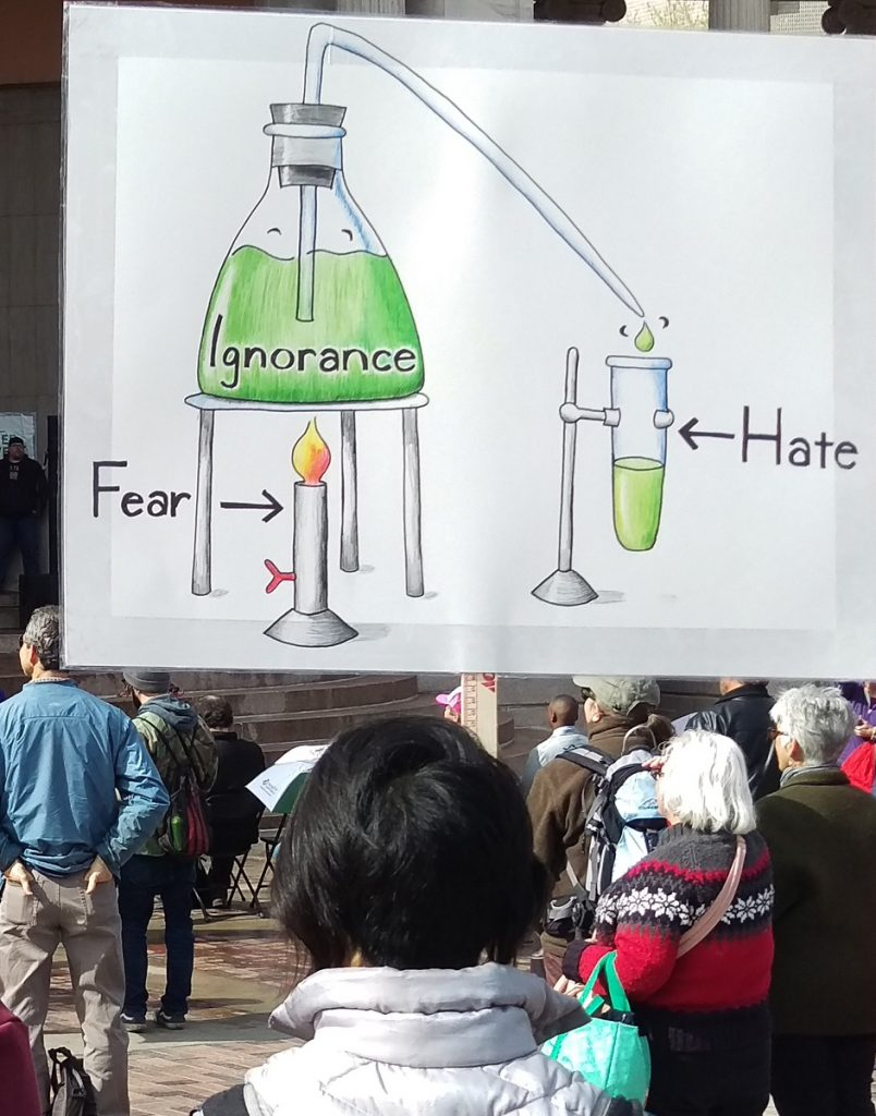 Fear-Ignorance-Hate chemistry graphic