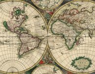 a vintage map of the world