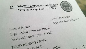 My learner's permit.
