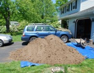 Five cubic yards, in dirt form
