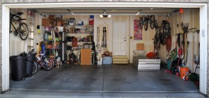Solar panels in garage