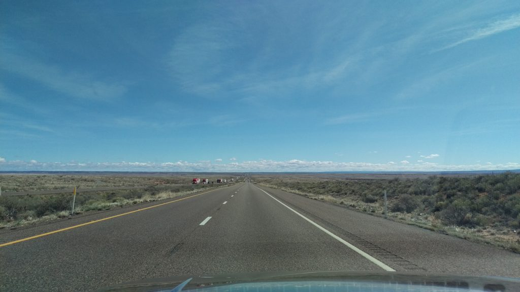 Toward Petrified Forest National Park on U.S. 40