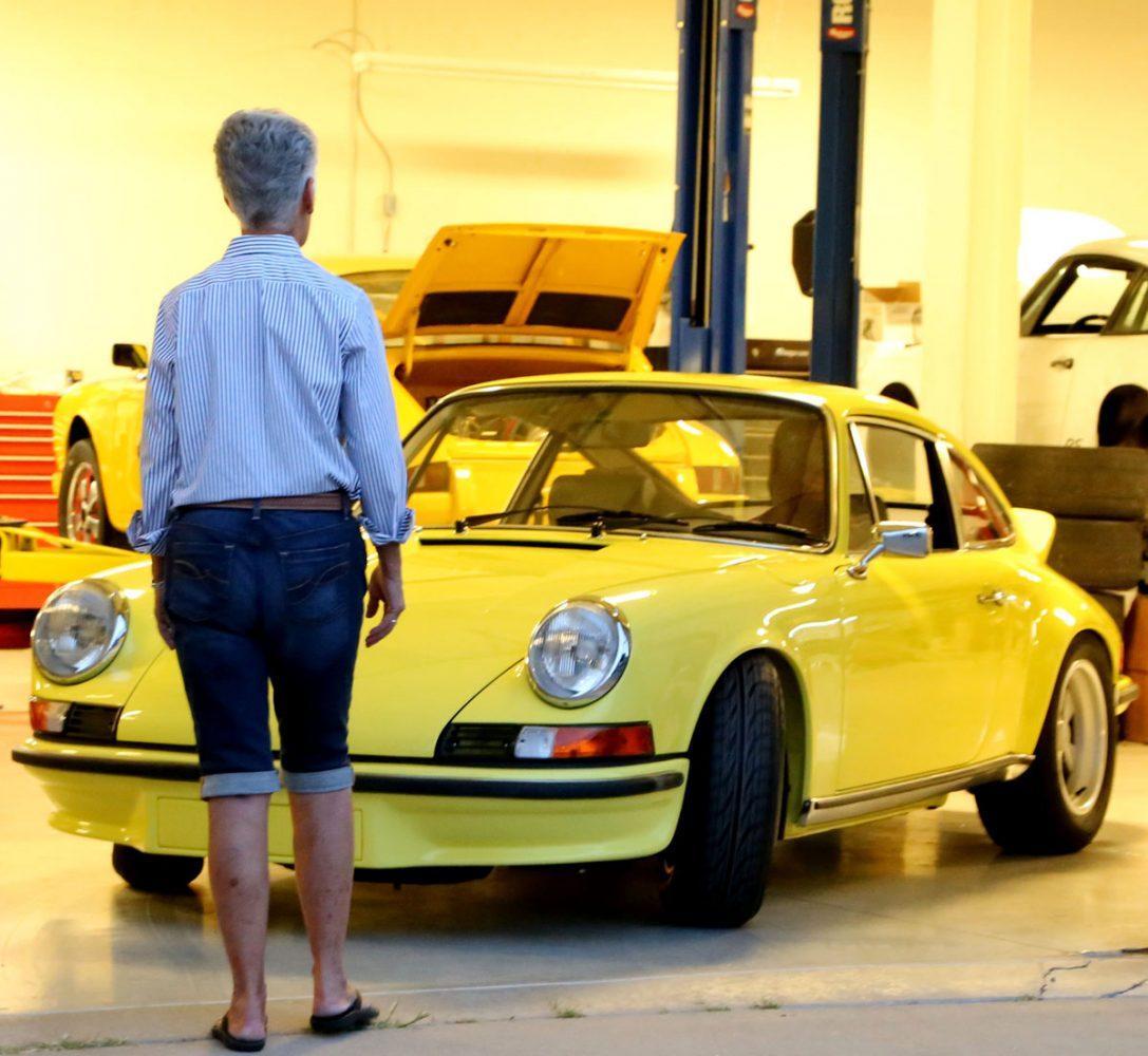 Arnette Schouten with Porsche