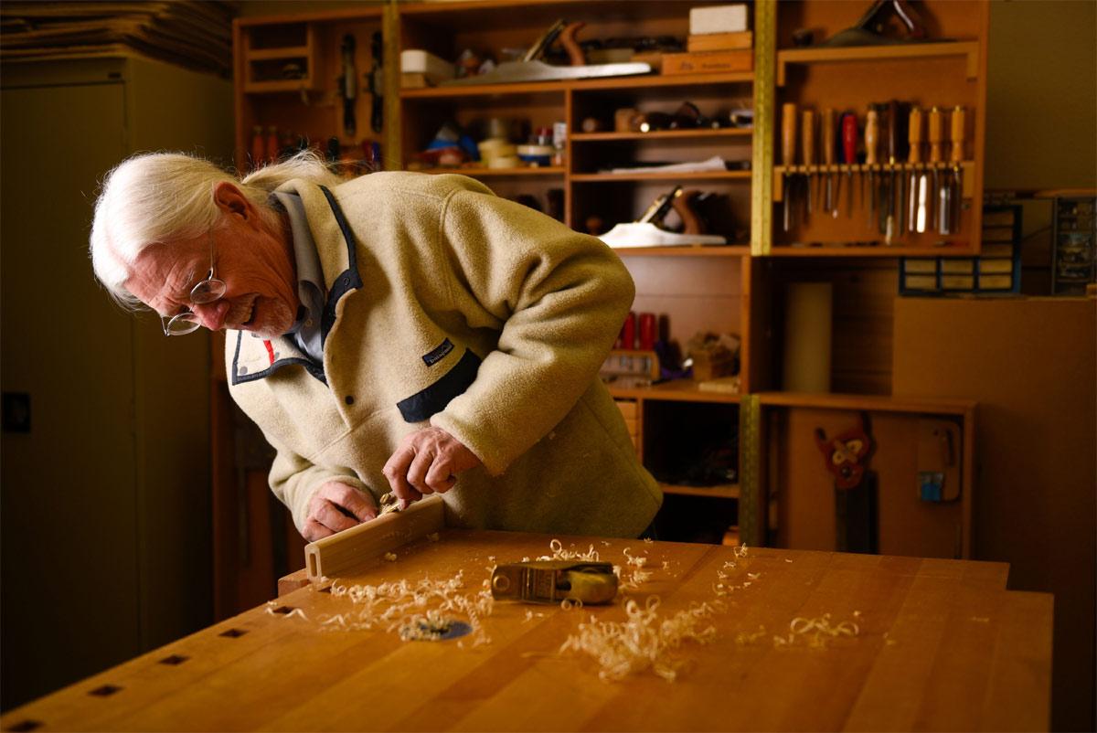 Harv Mastalir, woodworker