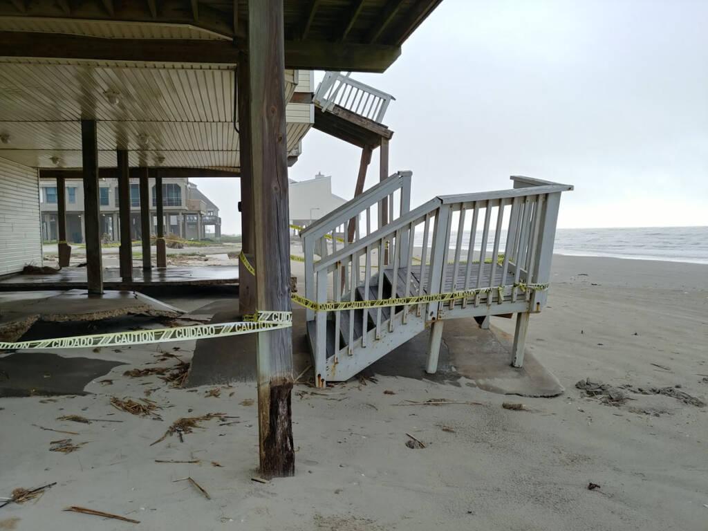 collapsing house on Galveston Island