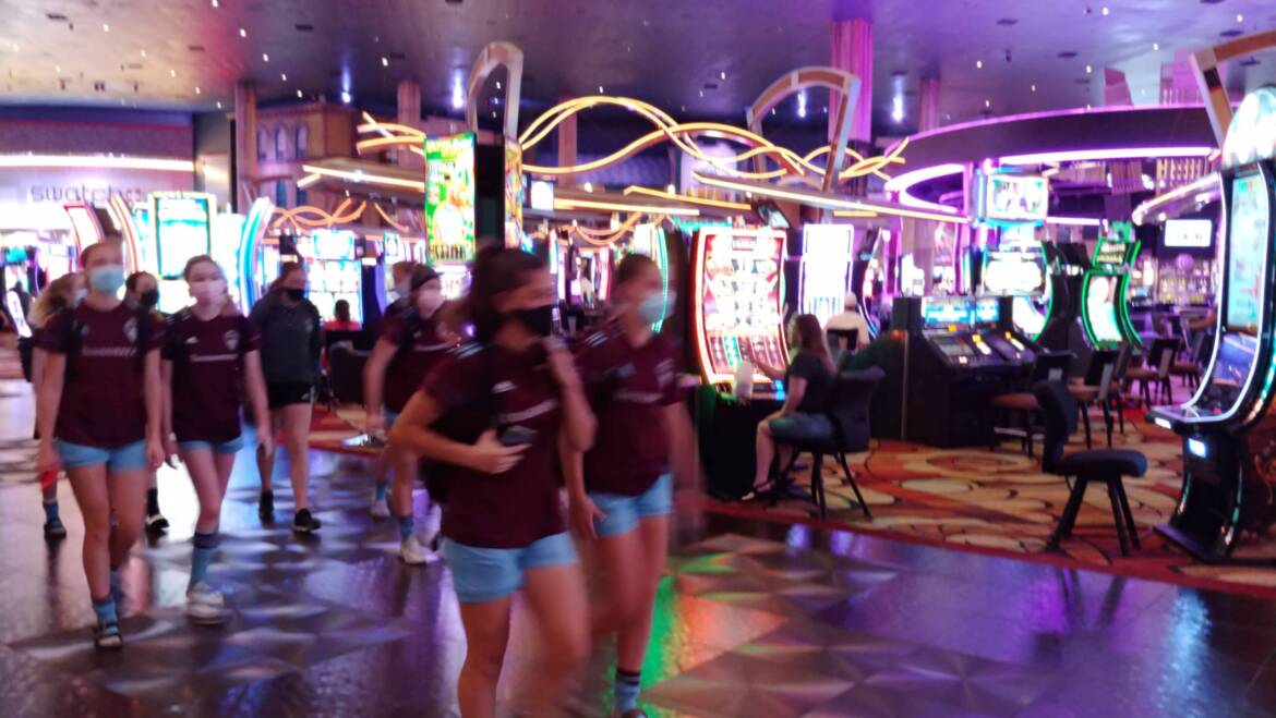 So you're chaperoning a soccer team in Las Vegas