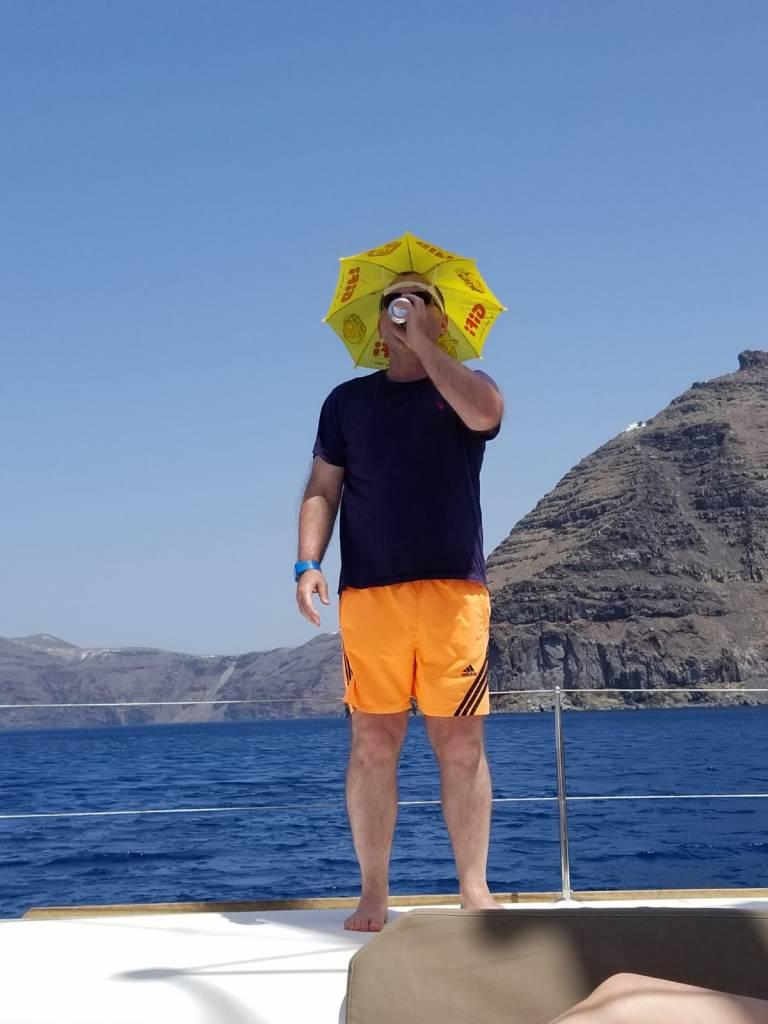 Cruise umbrella hat