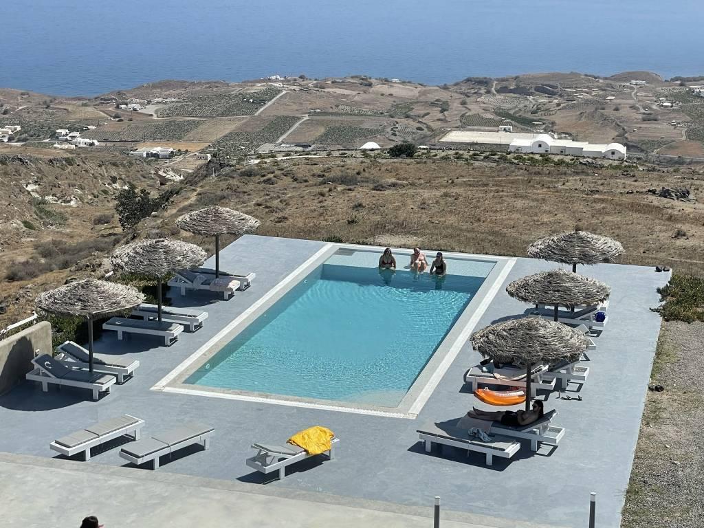 Eos Villa pool from balcony